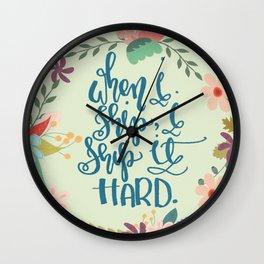 Ship it Hard Wall Clock