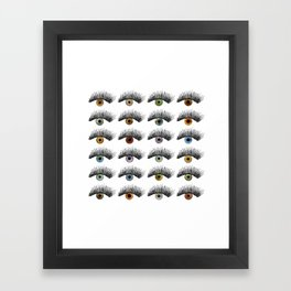 Hypnotic Eyes Framed Art Print