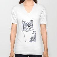 ellie goulding V-neck T-shirts featuring Ellie illustration  by  Steve Wade (Swade)