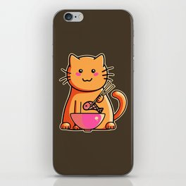 A cat's favourite meal iPhone Skin