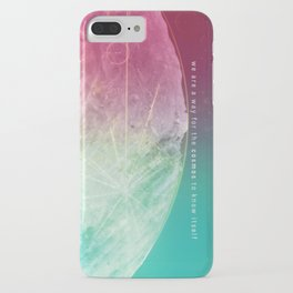 Interstellar Moon Voyager of the Cosmos with Sagan Quote iPhone Case