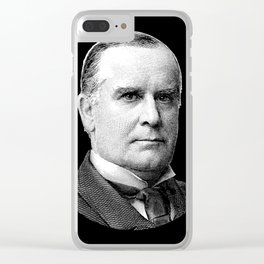 President McKinley Graphic Clear iPhone Case