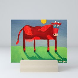 Udderly Confused - Funny Cow Art Mini Art Print