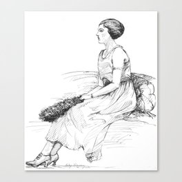 Fashionable Woman Canvas Print