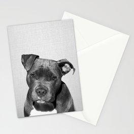 Pit bull - Black & White Stationery Cards