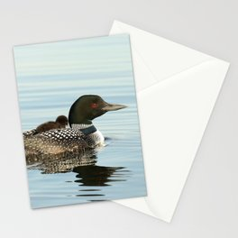 Sleepy baby loon Stationery Cards