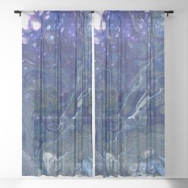 Cool Tone Splash Sheer Curtain