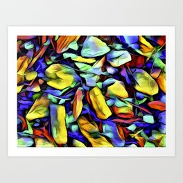 Colorful Rock Abstract Art Print