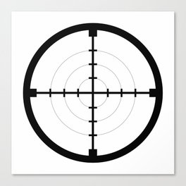 sniper black finder target symbol bull eye Canvas Print