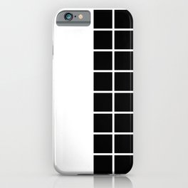 RETROWAVE (BLACK-WHITE) iPhone Case