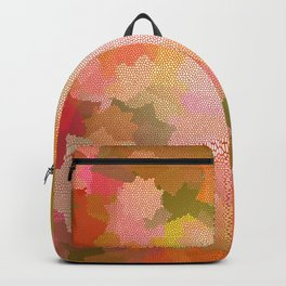 Nine Pointed Stars - Red Backpack