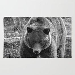 Grizzly Bear - B & W Rug