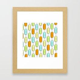 Ice Pop Pattern Framed Art Print