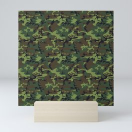 Green and Brown Camouflage Pattern Mini Art Print
