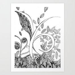 Clivia Flava Art Print