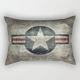 USAF vintage retro roundel #2 Rectangular Pillow