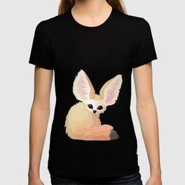 cute fennec foxes. Vector graphic character T-shirt