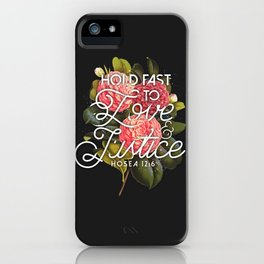 LOVE AND JUSTICE iPhone Case