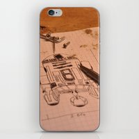 r2d2 iPhone & iPod Skins featuring R2D2 by radiantlee