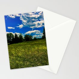 Open Field near Treeline Stationery Cards