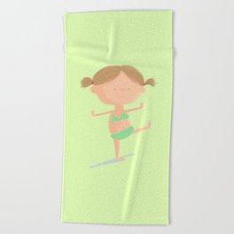 Little Girl Beach Towel