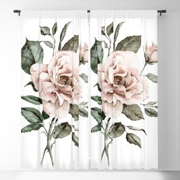 Faded Pink Rose Blackout Curtain