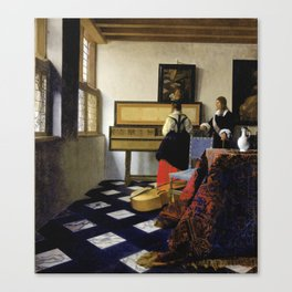 Johannes Vermeer  - The Music Lesson Canvas Print