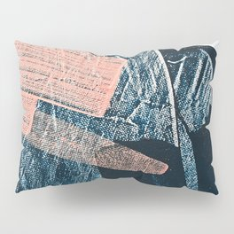 Cadence: a pretty minimal abstract piece in pink blue and white by Alyssa Hamilton Art Pillow Sham