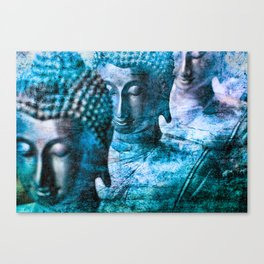 Buddhas blue Canvas Print