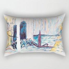 X voYages de Zed (toile 7 - série 1) Rectangular Pillow