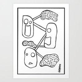 BLABLABLA Art Print