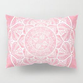 Bohemian Blush Pink & Teal Mandala Pillow Sham