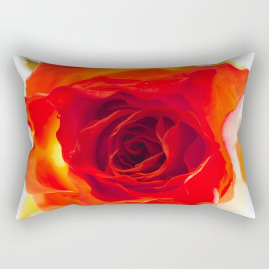 Inside the rose Rectangular Pillow