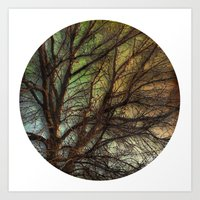 psychadelic Art Prints featuring Psychadelic Tree by Jeanne Hollington