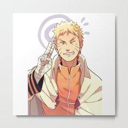 Fan Arte Naruto Uzumaki Metal Print
