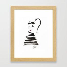 Stylish Girl Ink Croquis 2 Framed Art Print