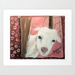 "Goat says, ""Hi!"" Art Print"