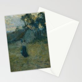E Phillips Fox - The milking shed Stationery Cards