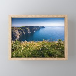 Sunny Cliffs of Moher, Ireland Framed Mini Art Print