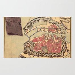 Map Of Copenhagen 1800 Rug