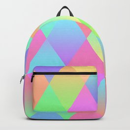 Colorful Geometric Pattern Prism Holographic Foil Triangle Texture Backpack