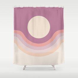 Lilac Rainbow Canyon Shower Curtain
