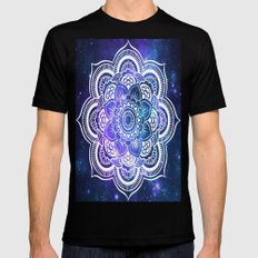 Mandala: Violet & Teal Galaxy Black Mens Fitted Tee MEDIUM
