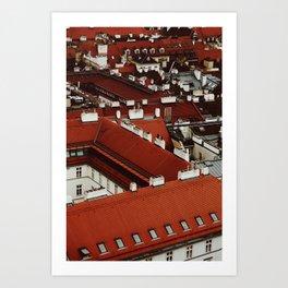 Vienna Rooftops Art Print