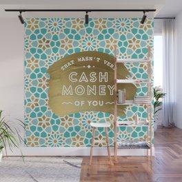Cash Money – Mint & Gold Palette Wall Mural