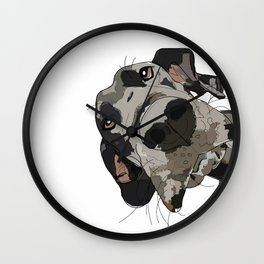 Great Dane dog in your face Wall Clock