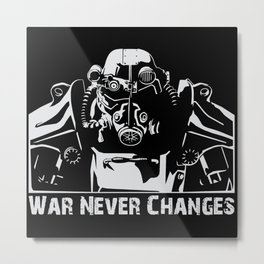 Fallout 3 War Never Changes Metal Print