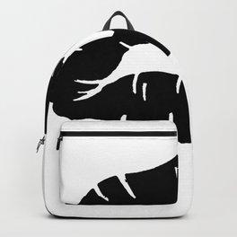 Beautiful Black Lipstick Kiss Isolated Backpack