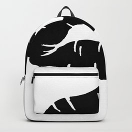 Beautiful Black Lipstick Kiss Isolated Backpack