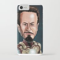 robert downey jr iPhone & iPod Cases featuring Robert Downey Jr by Carrillo Art Studio